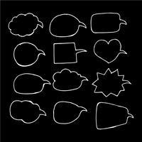 Icône de dessin main bulle discours
