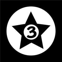 Hôtel 3 étoiles Icon vecteur