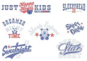 Pack de vecteur de typographie de beaux rêves