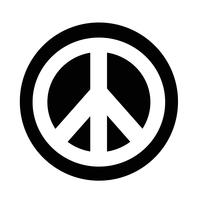 icône de symbole de paix hippie vecteur