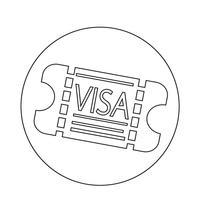 Visa d'entrée icône vecteur