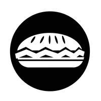 icône de la tarte alimentaire