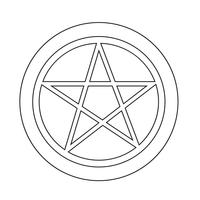 Icône du pentagramme vecteur
