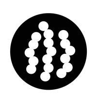 icône de virus bactérien vecteur