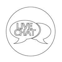 Icône de bulle de dialogue chat en direct
