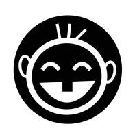 icône d'enfant heureux