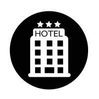 icône de l'hôtel vecteur
