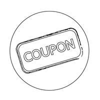 Icône de coupon de réduction
