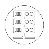 Icône du serveur informatique