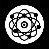 icône de l'atome vecteur