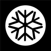 Flocon de neige icône vecteur