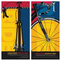 Illustration vectorielle affiche vélo