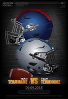 Football américain affiche illustration vectorielle vecteur