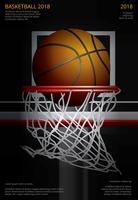 Illustration vectorielle de basket-ball affiche publicité