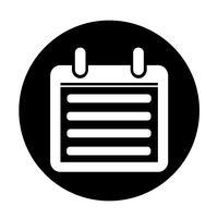 Icône de signe de calendrier
