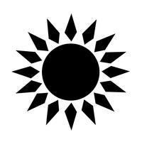 Signe du soleil icône