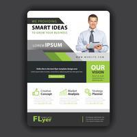 conception de flyer entreprise forme verte
