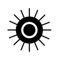 Icône de signe du soleil