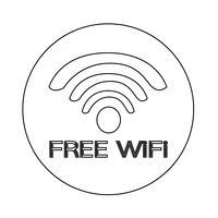 Signe de l'icône wifi