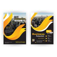 brochure corporative de forme jaune
