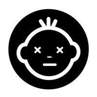 Icône de visage de bébé vecteur