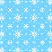Motif de flocons de neige bleu. Motif de flocons de neige blanche sur fond bleu