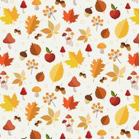 Motif feuilles d'automne vecteur