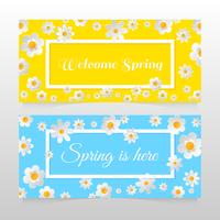 Bannière de vente de printemps avec belle fleur colorée. Illustration vectorielle template.banners.Wallpaper.flyers, invitation, affiches, brochure, remise de bon d'achat.