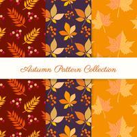 Main dessiner des motifs d'automne vecteur