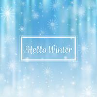 Bonjour hiver fond flou. Flocons de neige de Noël fond flou vecteur
