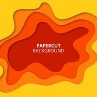 Papier jaune coupé de fond vecteur