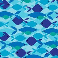 Motif de poisson se chevauchant vecteur