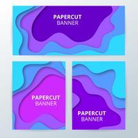 Bannières coupées de papier coloré