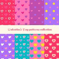 Collection de patrons de la Saint-Valentin. Modèles d'amour. Motifs de Saint Valentin vecteur