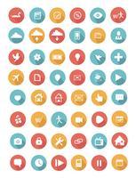 Collection d'icônes plat avec ombre portée