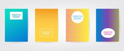 Conception minimale des couvertures. Dégradés de demi-teintes colorés. Futurs motifs géométriques. Vecteur EPS10.
