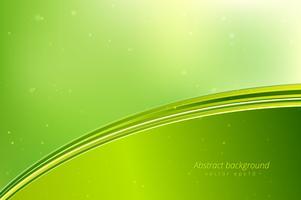 Abstrait de vagues vertes.