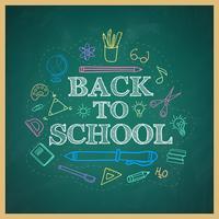 Retour à l'école doodles dessinés à la main fond
