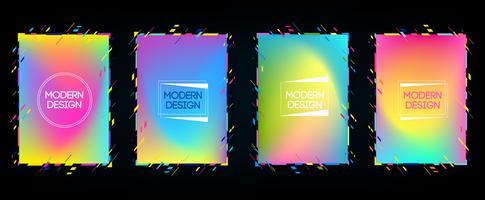Cadre de vecteur de texte graphique Art moderne pour des hipsters. cadre dynamique élégant fond noir géométrique avec de l'or. élément de conception de cartes de visite, invitations, cartes-cadeaux, flyers et brochures