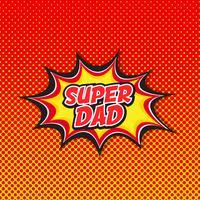 Super papa - fond style bande dessinée vecteur