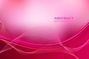 Fond abstrait ondulé rose vecteur