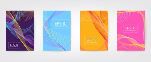 Minimal Vector couvre la conception. Gradients de demi-teintes froids. Modèle de future affiche.