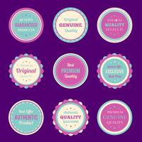 Ensemble de badges et étiquettes colorées vecteur
