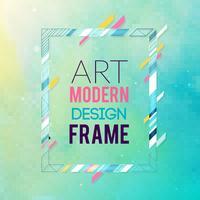 Image de vecteur pour les graphiques de texte art moderne. Cadre dynamique avec des formes géométriques abstraites colorées élégantes autour d'elle sur un fond dégradé. Lignes de couleur néon à la mode dans un style moderne.