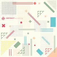 Fond géométrique art abstrait moderne avec style plat minimaliste