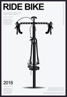 Illustration vectorielle affiche vélo vecteur
