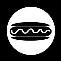 saucisse, hot dog, icône