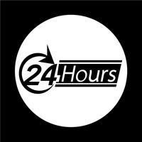 Icône de 24 heures vecteur