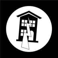 Icône de symbole de tremblement de terre