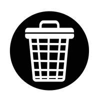 icône de corbeille vecteur